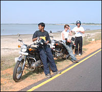 Taking a break on Pondicherry Highway